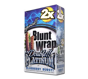 Double Platinum Blunt Wraps Blueberry
