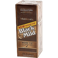 Black & Mild Wood Tip Cigars Box