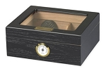 Capri Glass Top Cigar Humidor Black