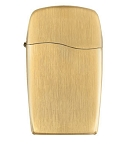 Zippo Lighter Blu: Brushed Gold Plate