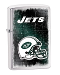 Zippo Lighter NFL Jets Brushed Chrome