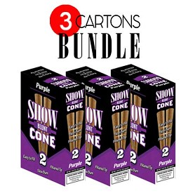 Show Blunt Cone Cigar Purple BUNDLE 3