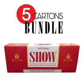 SHOW Filtered Cigars Natural BUNDLE 5