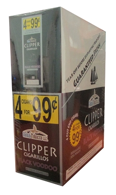 Clipper Cigarillos Black Voodoo | Pouch 4 for $0 99 | Florida Tobacco Shop