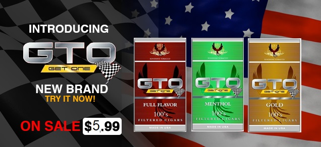 GTO Filtered Cigars are in