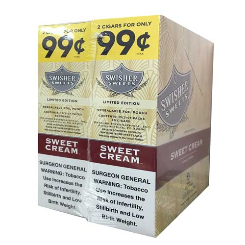 Swisher Sweets Cigarillos Foil Pack Sweet Cream Pre-Priced | Florida  Tobacco Shop