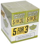 Swisher Sweets Cigarillos White Grape 5 Pack (5FOR3)