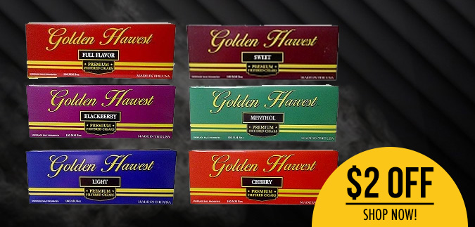 Golden Harvest Filtered Cigars for Sale Now
