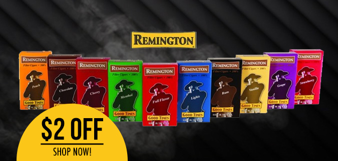Remington Filtered Cigars are Available