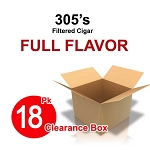 305's Filtered Cigars Full Flavor- 18 Pk Clearance Box