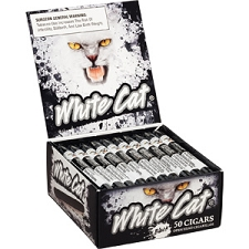 White Cat Cigarillos Black Box