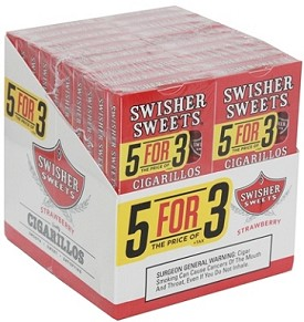 Swisher Sweets Cigarillos Strawberry 5 Pack (5FOR3)