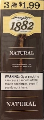 Garcia Y Vega 1882 Natural Cigars 3x1.99