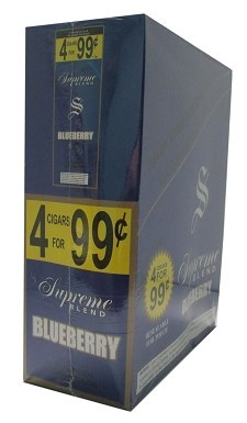 Supreme Blend Cigarillos Blueberry 4 for $0.99