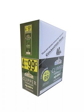 Clipper Cigarillos Kush 15/4 Pouch Pre-Priced
