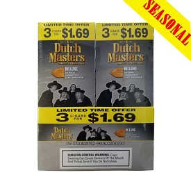 Dutch Masters Cigarillos Deluxe Foil 60 Ct Pre-Priced (3 x $1.69)