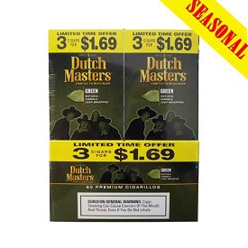 Dutch Masters Cigarillos Green Foil 60 Ct Pre-Priced (3 x $1.69)
