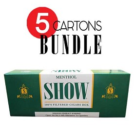 SHOW Filtered Cigars Menthol BUNDLE 5
