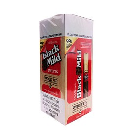 Black & Mild Cigarillos Sweet Wood Tip Box Pre-Priced (99 Cents)