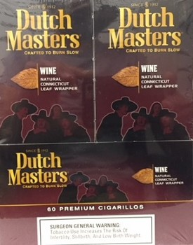 Dutch Masters Cigarillos Wine Foil 60 Ct
