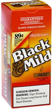 Black & Mild Cigarillos Jazz Box Pre-Priced (89 Cents)