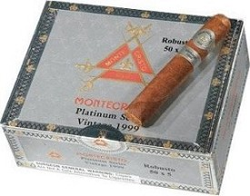Montecristo Platinum Robusto -  5 Ct Cigar pack in a portable humidor