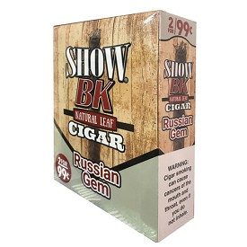 Show BK Natural Leaf Cigars 15/2Pk - Russian Gem
