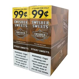 Swisher Sweets Cigarillos Foil Pack Sticky Sweet Pre-Priced