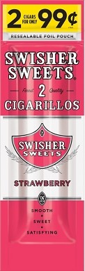 Swisher Sweets Cigarillos Foil Pouch Strawberry Pre-Priced