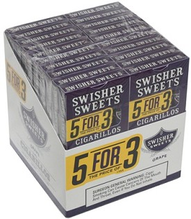 Swisher Sweets Cigarillos Grape  5 Pack (5FOR3)